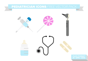 Pediatrician Icons Free Vector Pack