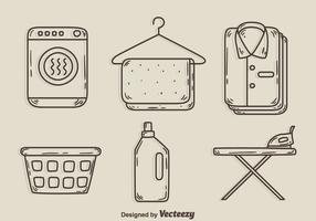 Sketch Laundry Element Vectors