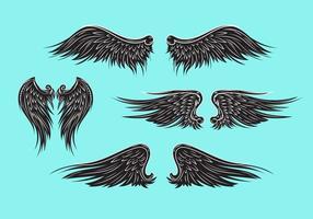 Vector de alas heráldicas o ángel