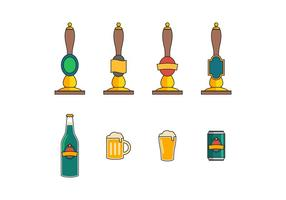Free Beer Pumps Vector