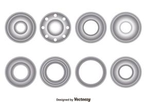 Silver Eyelet Collection Vector