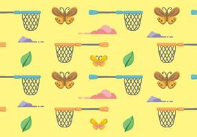 Butterfly Net Pattern Vector