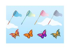 Free Butterfly Net Vector Set