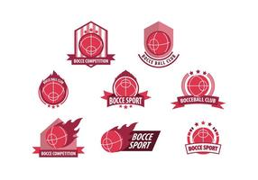 Free Bocce Sport Badges vector