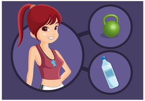 Free Female Personal Trainer Vektor