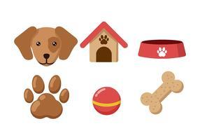 Vecteurs d'éléments de chien
