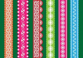 Colorful Eyelet Border  vector