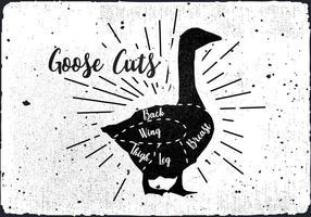 Free Goose coupe le fond du vecteur