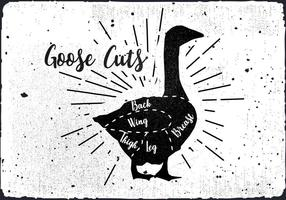 Gratis Goose Cuts Vector Bakgrund