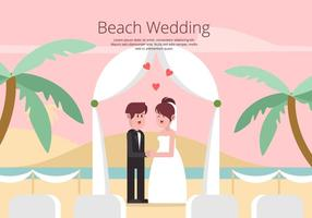 Beach Wedding Illustration