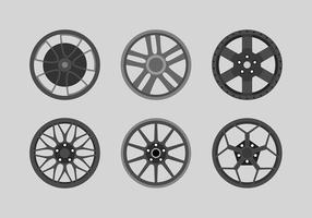 Alloy Wheels Black Set Free Vector
