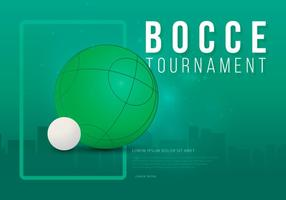 Bocce Tournament Illustration