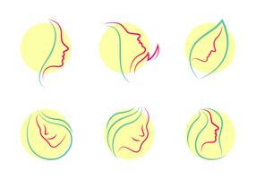 Vector de logotipos de dermatologia