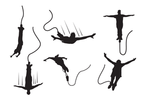 Bungee Silhouette Vector