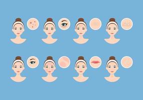 Dermatología Vector de la piel
