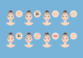 Dermatologi hud vektor