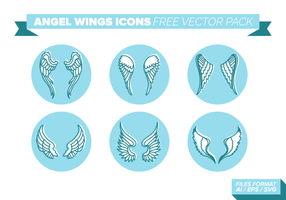 Angel wings icons pack gratuit de vecteur