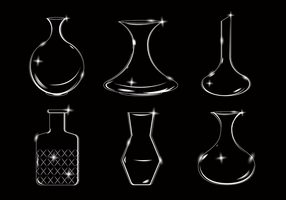 Vettore vuoto decanter