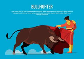 Bull Fighter Vector Illustration