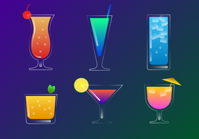 Beautiful Mocktail Vector