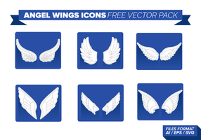 Angel Wings Ikoner Gratis Vector Pack