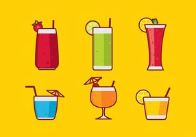 Mocktail flat free vector