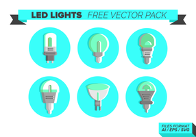 Led Lights Ikoner Gratis Vector Pack