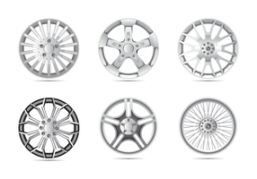 Shiny Alloy Wheels Vector