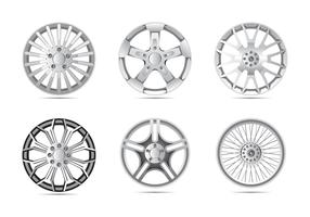Glänsande legering hjul vektor