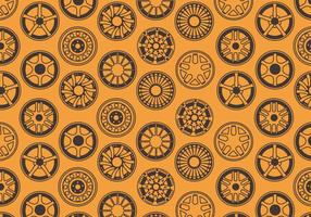 Alloy Wheels Pattern Vector