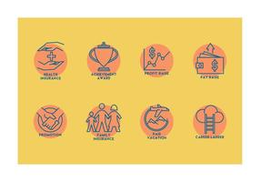 Employee Benefits Vector Icons