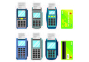 Set Of Card Reader Vectors