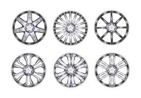Sport Wheel with Chrome Rim Vectors