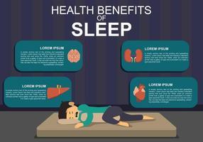 Gratis gezondheidsvoordeel van slaapillustratie