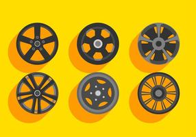 Alloy Wheels Set Gratis Vector