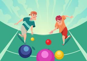 Bocce Ball Game vector