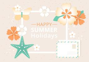 Free Summer Beach Elements Background vector