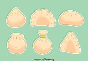 Hand Drawn Dumplings Vector