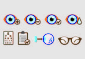 Set of Eye Test Icons