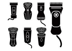 Shaver conjunto de iconos de vectores