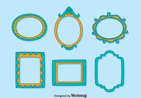 Decoration Photo Frame Collection Vector