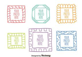 Colorful Sketch Photo Frame Collection Vector