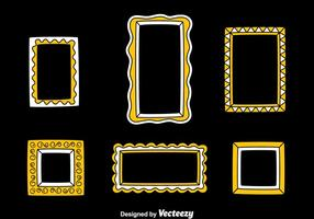 Photo Frame In White And Yellow Colors Vector