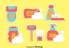 Trevliga hygienelement Vektorer