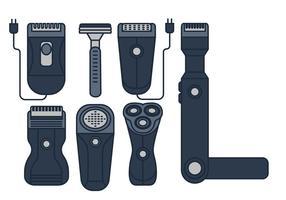 Conjunto de ícones do vetor Shaver