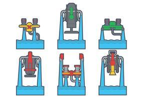 Conjunto de vetores de jato de água