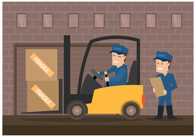 Male Movers Illustration Vector