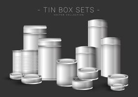 Tin Containers Vector