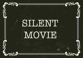 Silencio película de fondo vector