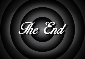 Silent Movie End Screen Screen Vector